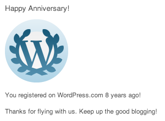 8 Years with WordPress.com